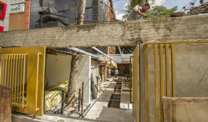 Tilt Gastro Lounge under Interiors works at Koramangala