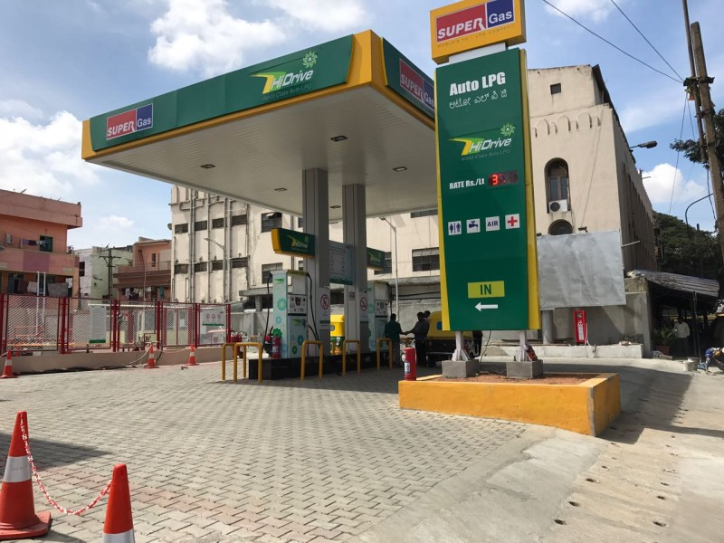 Gas station at bassappa circle
